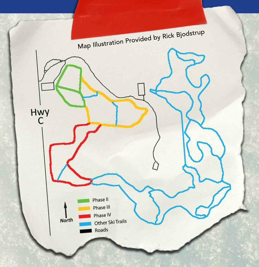 Lapham Peak Trails Map